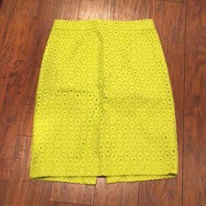 Cut out green pencil skirt